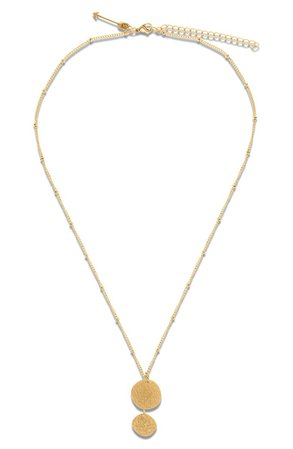 Ellie Vail Haley Sparkle Disc Pendant Necklace | Nordstrom