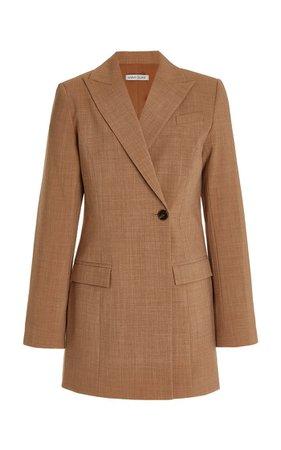 Sienna Single-Button Wool-Blend Blazer By Anna Quan   Moda Operandi