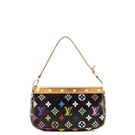 Louis Vuitton Black Monogram Multicolor Pochette - LV Multicolor