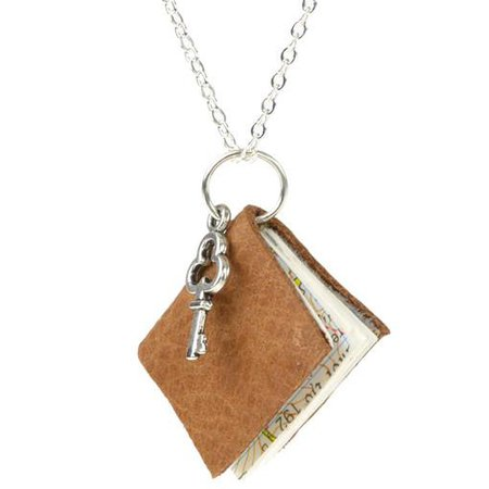 Old Fashioned Book & Key Necklace Alternative