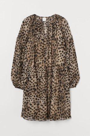 Chiffon Dress - Beige