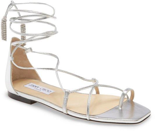 Dusti Metallic Flat Sandal