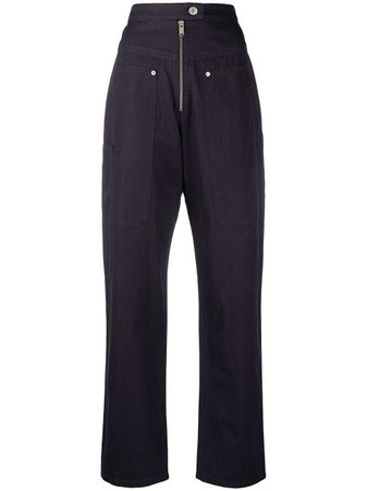 Isabel Marant Étoile high-waist straight-leg Trousers - Farfetch