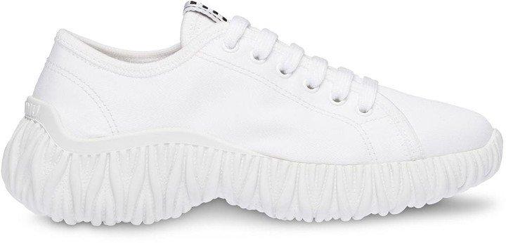 Gabardine Chunky Sole Sneakers