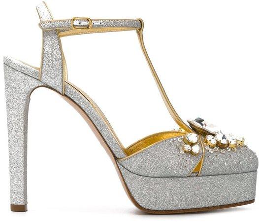 embellished Mary Jane pumps