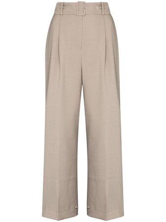 Frankie Shop Elvira Belted Wide Leg Trousers - Farfetch