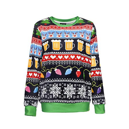 YoonGi Runway Sweater Santa Claus Xmas Patterned Sweater Ugly Christmas Sweaters Tops Pullovers: Amazon.ca: Clothing & Accessories