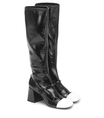 Knee-High Leather Boots - Miu Miu | Mytheresa