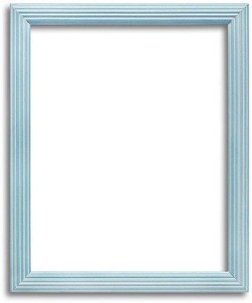 Rounded Light Blue Narrow Custom Size Frame