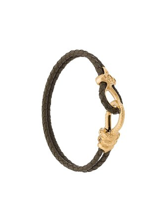 Nialaya Jewelry Braided Double Wrap Bracelet MLTHCO165 Green | Farfetch