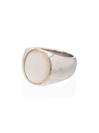 Tom Wood Oval Mother Of Pearl Ring R74IEWHM01S925 Silver | Farfetch