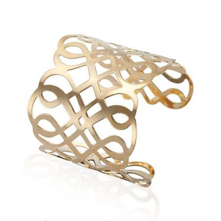 Gold Plated Gold Hip Hop Bangles Upper Arm Bracelet