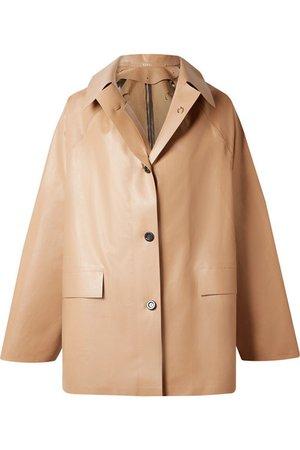 Kassl Editions   Coated cotton-blend coat   NET-A-PORTER.COM