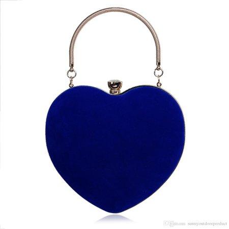 Dark-Blue Heart-Shaped Bag