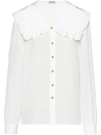 Miu Miu, ruffled collar blouse