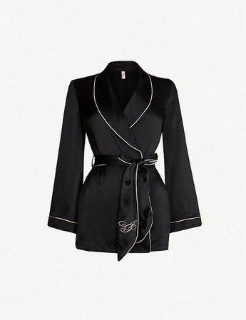 AGENT PROVOCATEUR - Classic silk pyjama top   Selfridges.com