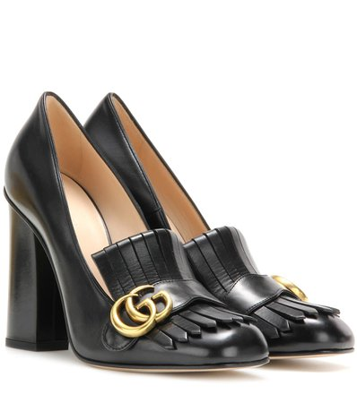 Leather Loafer Pumps | Gucci - mytheresa.com