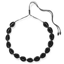 Black shell necklace - Google Search