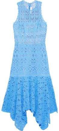 Asymmetric Crocheted Cotton Midi Dress