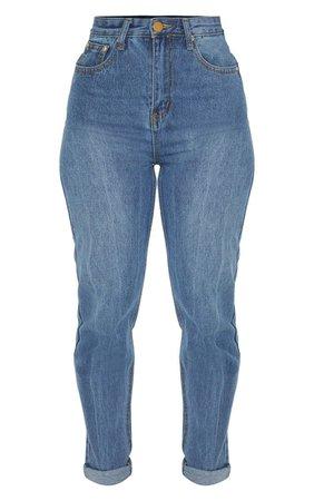 Petite Midwash Mom Jeans   Petite   PrettyLittleThing