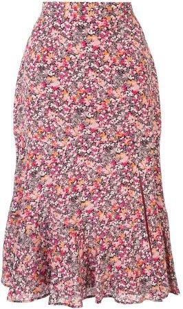 Clementine asymmetric slip skirt