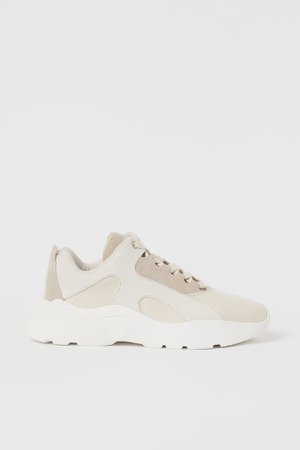 Chunky-soled Sneakers - White