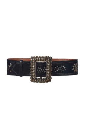 Embellished Leather Belt by Etro | Moda Operandi
