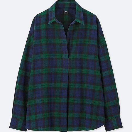 Women's Flannel Checked Skipper Long-sleeve Shirt
