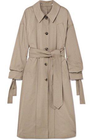 Rokh | Oversized cotton-gabardine trench coat