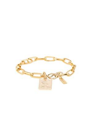 Gold Bar Link Bracelet