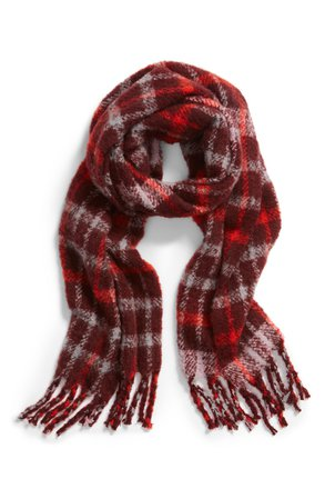 Something Navy Check Blanket Scarf (Nordstrom Exclusive) | Nordstrom