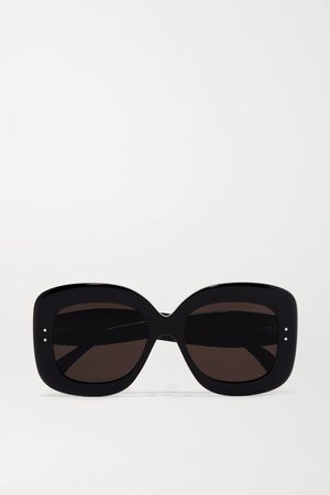 Black Square-frame acetate sunglasses | Alaïa | NET-A-PORTER