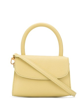 BY FAR mini grained leather tote