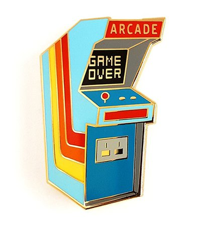 Pinsanity Vintage Arcade Cabinet Lapel Pin