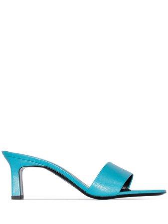 Simon Miller Solo 60Mm Leather Sandals Ss20   Farfetch.com