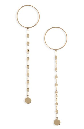 Lana Jewelry Circle Post Linear Chain Drop Earrings | Nordstrom