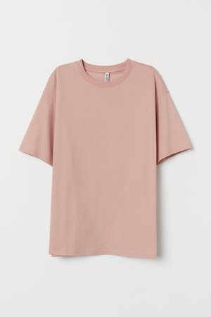 Wide-cut Cotton T-shirt - Orange