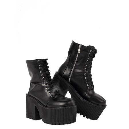 boots platforms punk aesthetic shoes clothes fashion...