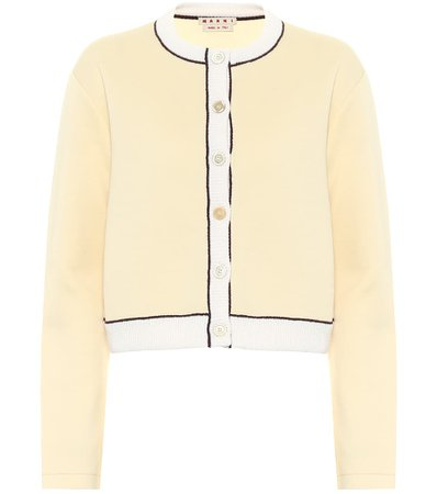 Marni, Cropped cotton-blend cardigan