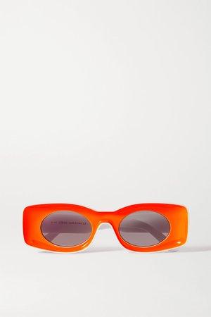 Orange + Paula's Ibiza square-frame neon acetate sunglasses | Loewe | NET-A-PORTER