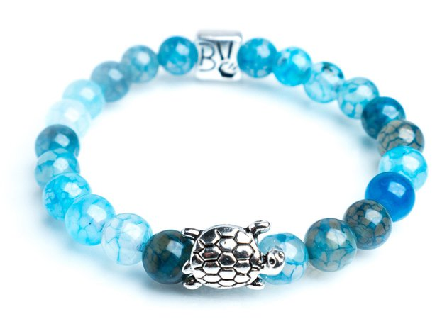 Ocean Blue Sea Turtle Bracelet
