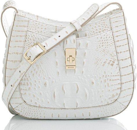 Small Johanna Croc Embossed Leather Shoulder Bag