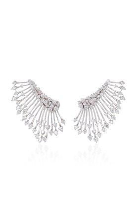 Hueb Luminus 18K White Gold Diamond Earrings