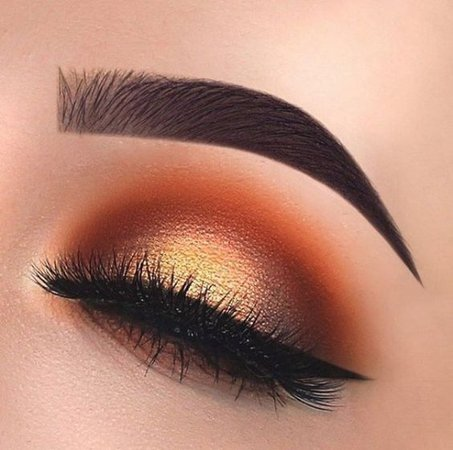 gold and red eye makeup