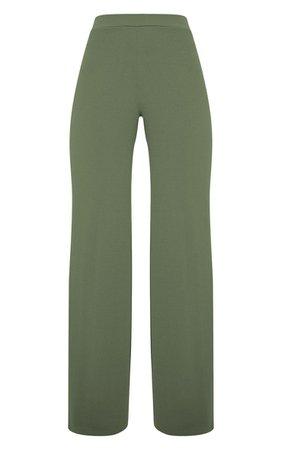 Sage Khaki Wide Leg Trouser | Co-Ords | PrettyLittleThing USA