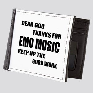 Emo Music Wallet Black and White