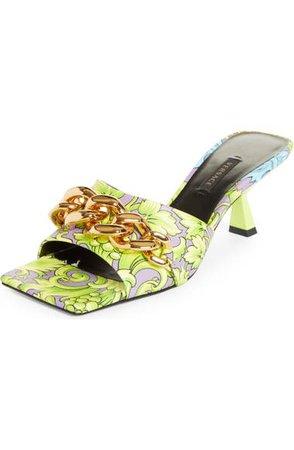 Versace Medusa Chain Slide Sandal (Women)   Nordstrom