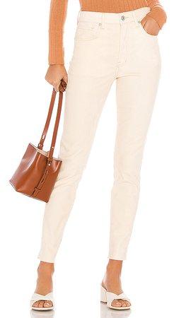 Free People Velvet Skinny Jean in Ivory | REVOLVE