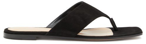 Thong Suede Sandals - Black