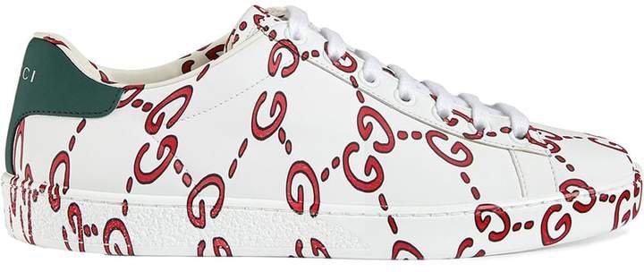 White GG Logo Ace sneakers